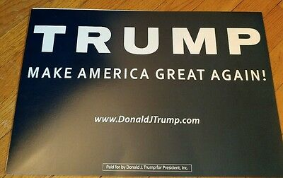 OFFICIAL DONALD TRUMP FOR PRESIDENT 2016 CAMPAIGN RALLY SIGN RALLY Rare Black