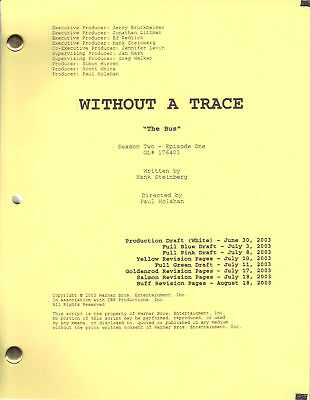 "WITHOUT A TRACE show script ""The Bus"""