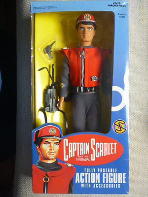 CAPTAIN SCARLET Action Figure Doll 1993 by Vivid Imaginations MINT in Box
