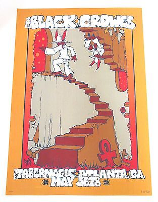 Black Crowes 2005 Tour Atlanta, Ga Shows Poster New Limited Numbered