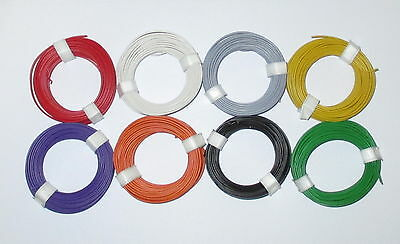 [1m = Stranded wire flexible 18x0,10 8 Rings a 10 Meter NEW
