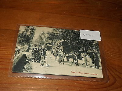 Old CEYLON  postcard our ref #55941 ROAD TO MOUNT LAVINIA COLOMBO