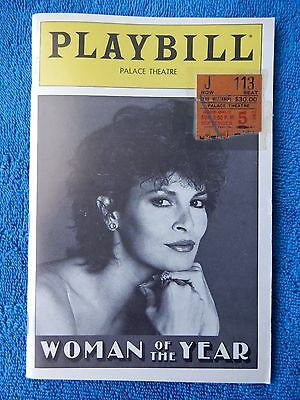 Woman Of The Year - Palace Theatre Playbill w/Ticket - September 5th, 1982