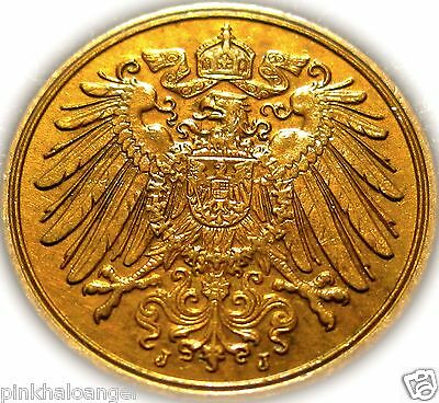 Germany - The German Empire - German 1914J  Pfennig Coin - WW1 Coin