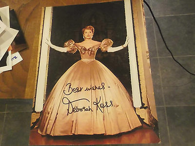 Autographed Deborah Kerr Stunning Hand Signed Picture Card -