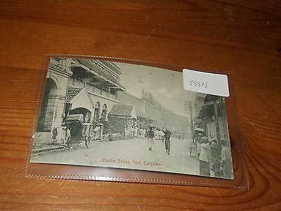 Old CEYLON  postcard our ref #55978 BAILLIE STREET FORT COLOMBO C.1910