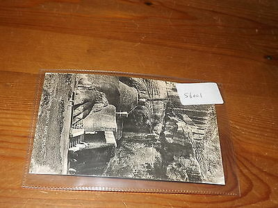 Old CEYLON  postcard our ref #56001 LION'S MOUTH SIGIRIYA ROCK