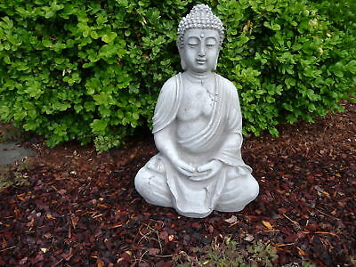buddha figur skulptur steinfigur f r garten deko koi teich. Black Bedroom Furniture Sets. Home Design Ideas