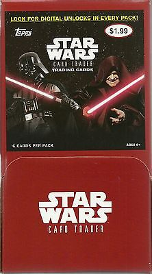 2016 Topps Star Wars Card Trader Retail Gravity Feed Box = 216 Cards