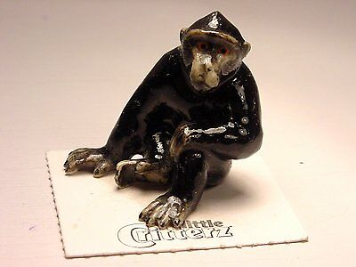 """Little Critterz - LC438 """"Celebes"""" Crested Macaque Monkey"""