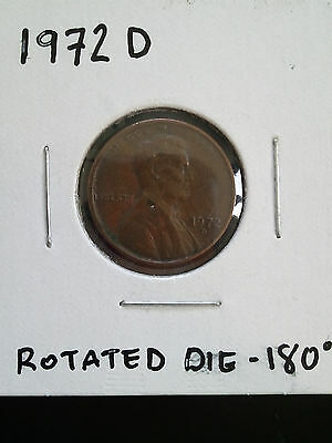 1972 D Lincoln Cent - Rotated Die 180° ~ ***unique***