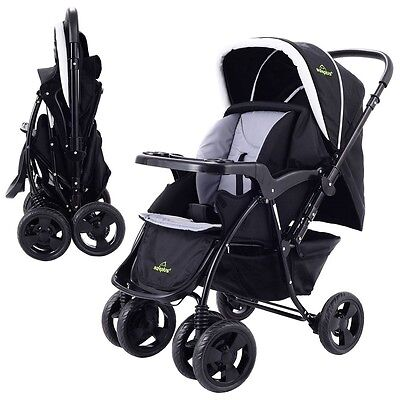 Two Way Foldable Baby Kids Travel Stroller Newborn Infant Pushchair Buggy US
