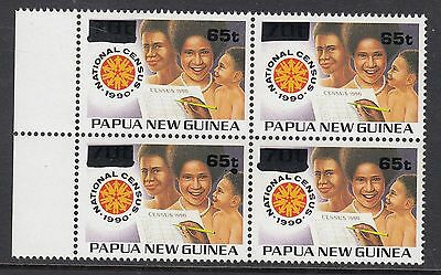PAPUA NEW GUINEA 1994 65t on 70t CENSUS, Mint Never Hinged