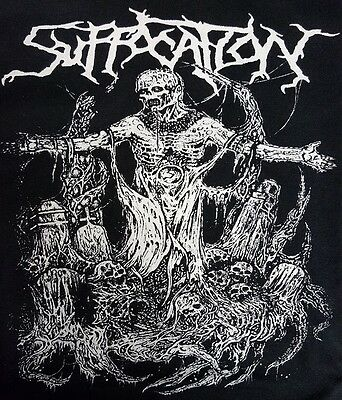 Suffocation Black Canvas Metal Back Patch