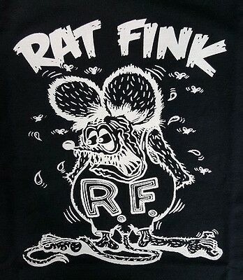 Rat Fink Big Daddy Ed Roth Black Canvas Back Patch