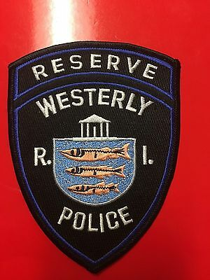 Westerly  Rhode Island  Police Reserve  Shoulder  Patch