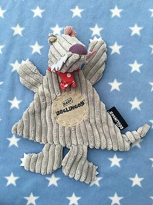 Les Deglingos Bigbos the Wolf Baby Comforter Soft Animal themed comfort toy