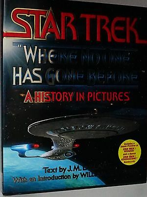 "STAR TREK ""WHERE NO ONE HAS GONE BEFORE"" A HISTORY IN PICTURES - Large Hardback"