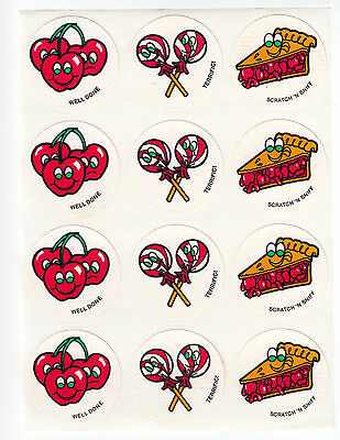 Vintage CTP Scratch and Sniff Stickers Sheet - Cherry