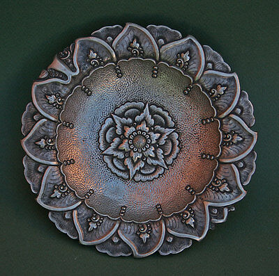 Antique Silver Dish Bali? South East Asian? French Flea Market Find