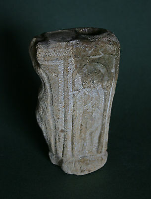 Antique Carved Stone Oil Lamp Roman ? Byzantine ? Medieval ?