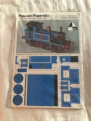 Vintage Peacock Paperkits Paper Cut Out Bluebell Railroad Caboose Model Kit