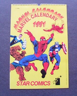 Calendario/Calendar - MARVEL STAR COMICS 1991 -Cm 42,5 X 28,5 #GB54