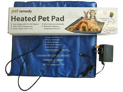 Heated Dog Pad Pet Cat Warming Mat Bed Operation Vets Recovery Winter Keep Warm