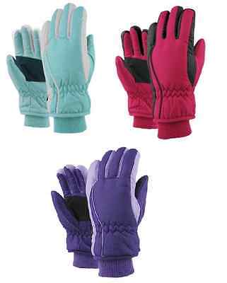 Girls Kids Ski Snow Winter Gloves NWT 4 - 6x NWT Insulated #20226