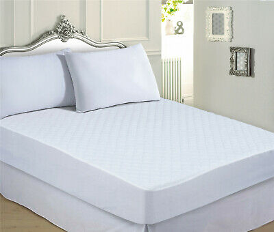 """Extra Deep 17"""" Luxury Quilted Fitted Mattress Protector Cover - All Sizes"""