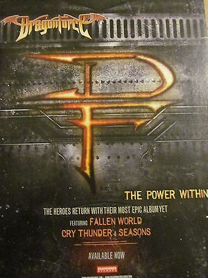DragonForce, The Power Within, Full Page Promotional Ad