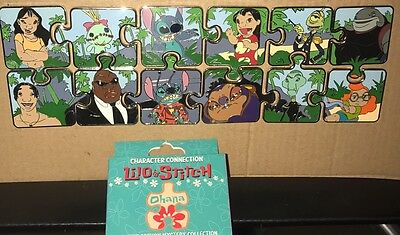 Disney 12 Pin Set Le LILO And Stitch Mystery Puzzle Chaser Character Connection