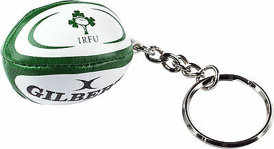 Gilbert Ireland Rugby Union Mini Rugby Ball Keyring