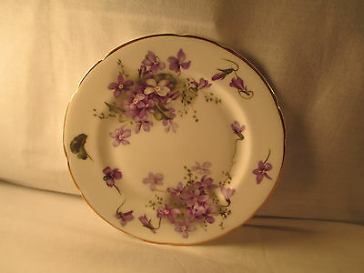 "Antique Hammersley ""Victoria Violets"" from England Countryside Tea Plate"