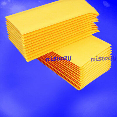 10/100x Yellow Kraft Bubble Mailers Padded Envelopes Shipping Bags Self Seal