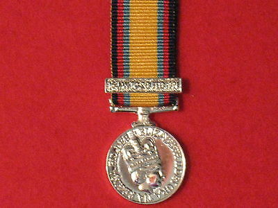 Miniature Gulf War Medal 1990 1991 with Jan Feb Clasp in Mint Condition & ribbon