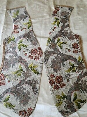 CIRCA  1750's SILK AND METALLIC BROCADE WAISTCOAT FRONTS
