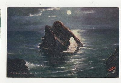The Bow Fiddle Rock Cullen Embossed Tuck Postcard 278a