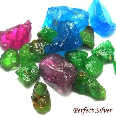 12.25 ct. 18 P. Natural Rough Emerald Colombia Ruby & Blue Apatite @ FREE SHIP