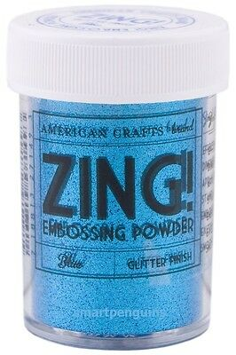 American Crafts Zing  Embossing Powder - Blue Glitter - Card Making Crafts