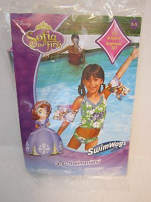 Disney Princess Sofia the First Arm Floats 3-D Swimmies Swimming Pool Beach New