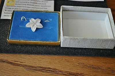 antique vintage carved flower tie tac or wear anywhere pin retired jeweler
