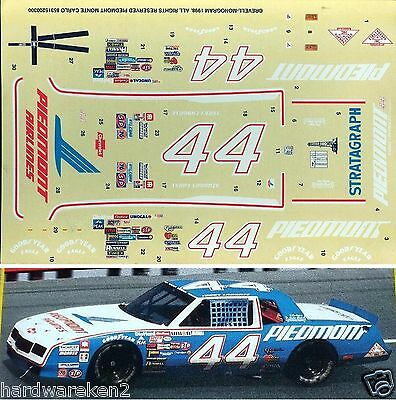 Nascar Decal #44 Piedmont Airlines 1984 Chevy Monte Carlo Terry Labonte