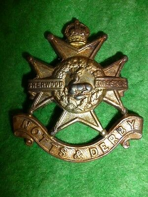 The Sherwood Foresters / Notts & Derby Regiment Cap Badge WW1/WW2