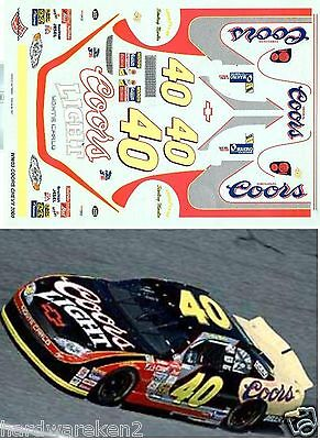 Nascar Decal #40 Coors Light - Coors 2000 Monte Carlo Sterling Marlin - Wetworks