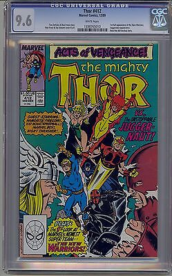 Thor #412 Cgc 9.6 White Pages Marvel 1St Full New Warriors