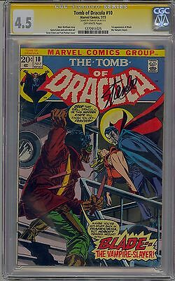 Tomb Of Dracula #10 Cgc 4.5 Ss Off-White Pages Signed Stan Lee Marvel