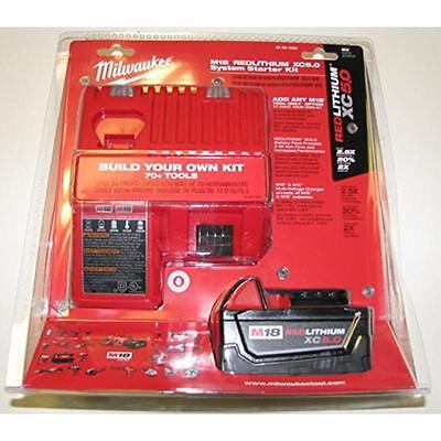 Mwk5 Amp Battery and Charger Kit Milwaukee Batteries 48-59-1850 045242350636