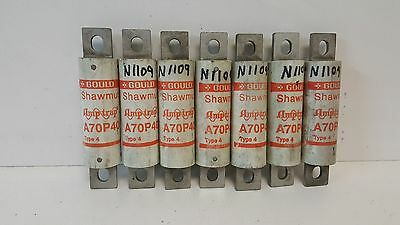 Lot Of (7) New Old Stock! Gould Shawmut Amp-Trap Fuses A70P40
