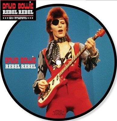 """David Bowie - Rebel Rebel 40th anniversary 7"""" picture disc New Sealed 2014"""
